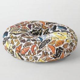Butterflies of North America Pattern Floor Pillow