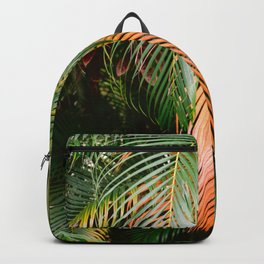 Shades of green and orange | Botanical photography print Backpack