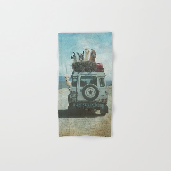 NEVER STOP EXPLORING II SOUTH AMERICA Hand & Bath Towel