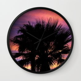Palm Sunset - 7a Wall Clock