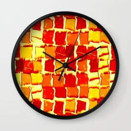 Flame Squares Wall Clock