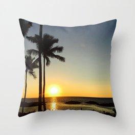 Hawaii sunset 2.0 Throw Pillow