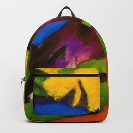 The Blue Fox by Franz Marc Backpack