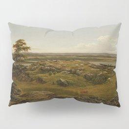 Rocks In New England 1855 By Martin Johnson Heade   Reproduction Pillow Sham