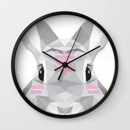Boho poly rabbit Wall Clock