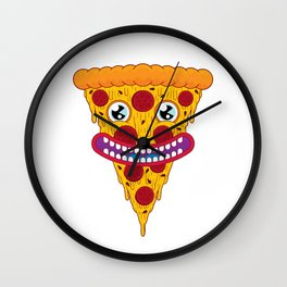 Pizza Face Wall Clock