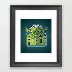 Dagobah Swamp Force - Teal Framed Art Print