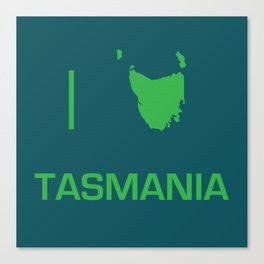 I heart Tasmania Canvas Print