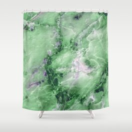 Jade Marble Shower Curtain