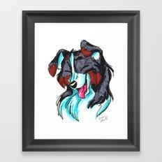 Brush Breeds-Tricolor Border Collie Framed Art Print