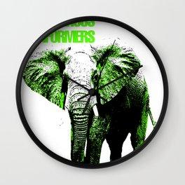 African Elephant Wall Clock