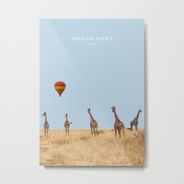 Maasai Mara National Reserve, Kenya Artwork Metal Print