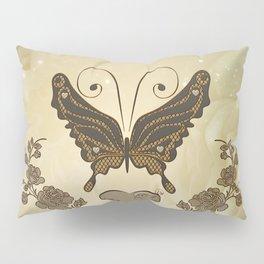 Beautiful elegant butterflies with heart Pillow Sham