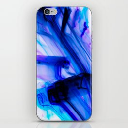 Vivid Electric Violet Line Art iPhone Skin