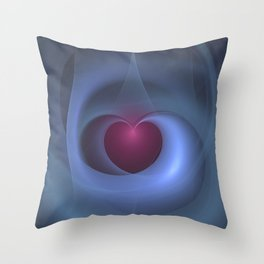 Take Care of My Heart Fractal Throw Pillow