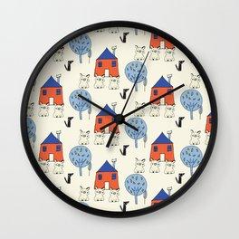 Tree Little Pigs Pearl Wall Clock