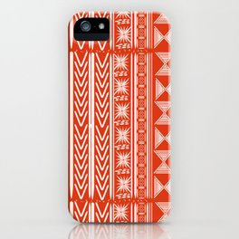 Boho Mud Cloth (Coral) iPhone Case