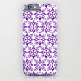 Symmetrical Shapes - Purple Butterfly iPhone Case