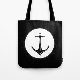 Anchor Point (white on black) Tote Bag