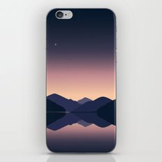 Mountain sunset reflection iPhone & iPod Skin