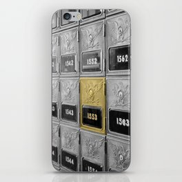 Vintage Post Office Boxes iPhone Skin