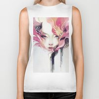 portrait Biker Tanks featuring Bauhinia by Anna Dittmann
