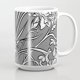 Carnation Creation Black and White Coffee Mug
