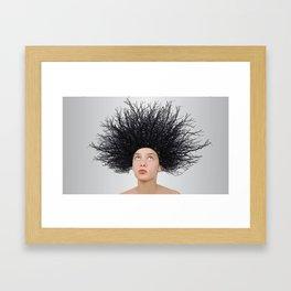 Assez des cheveux SECS  Framed Art Print
