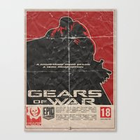 gears of war Canvas Prints featuring Gears of War by Evan DeCiren