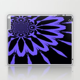 The Modern Flower Black and Periwinkle Purple Laptop & iPad Skin