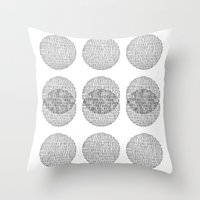 circles Throw Pillows featuring Circles by Catrin Eluned