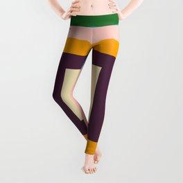 Retro Colored Square Space Leggings