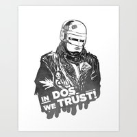 robocop Art Prints featuring Robocop  by Superdroso