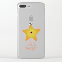 Beachin' Starfish Clear iPhone Case