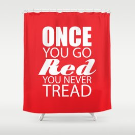 Going Red Shower Curtain
