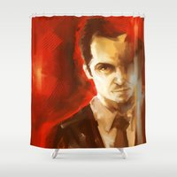 moriarty Shower Curtains featuring Jim Moriarty by AkiMao