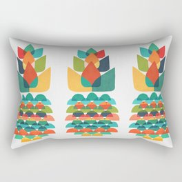 Colorful Whimsical Ananas Rectangular Pillow