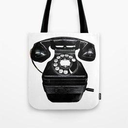 Vintage Telephone Pop Art Tote Bag