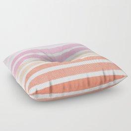 Camil - ombre gradient brushstrokes abstract painting minimalist seaside coastal beach cottage decor Floor Pillow