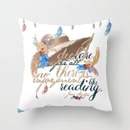 Jane Austen - No Enjoyment Like Reading Throw Pillow