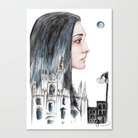 milan Canvas Prints featuring Milan by Giulia Colombo