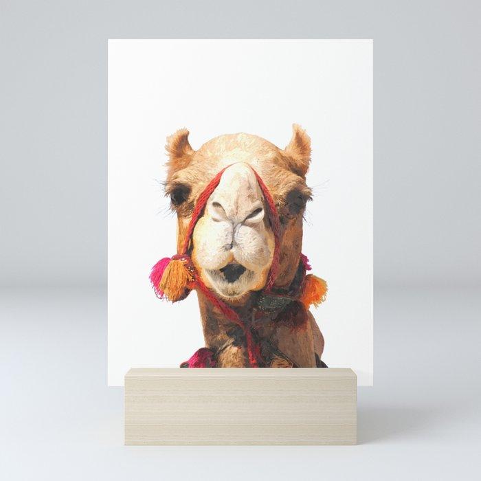 Camel Portrait Mini Art Print