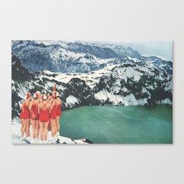 Polar Plunge Canvas Print