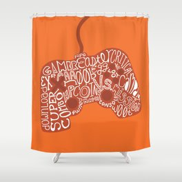 Gaming Controller Shower Curtain