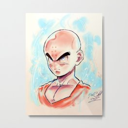 Ultra Instinct Monk Metal Print