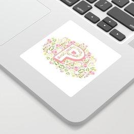 "Princess Monogram ""P"" Sticker"