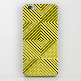 Yellow plaid iPhone Skin