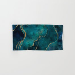 Golden Gemstone Glamour Mineral Hand & Bath Towel