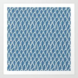 Fishing Net Blue Art Print