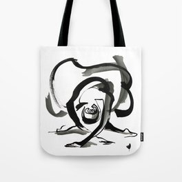 Expressive Ballerina Dance Drawing Tote Bag